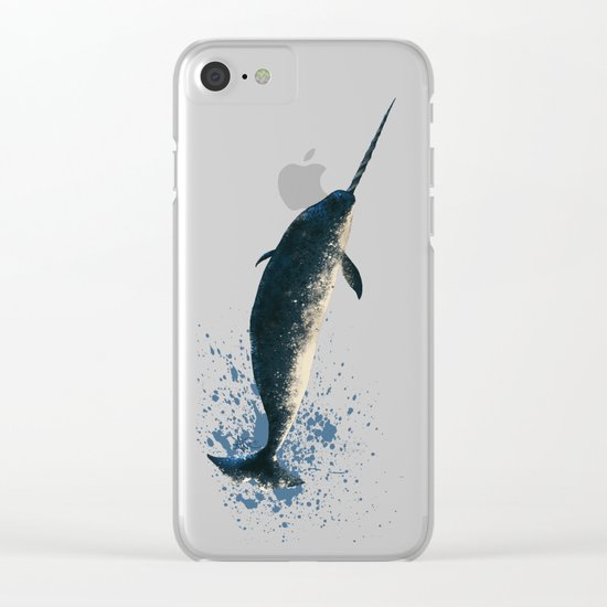 Jackson the Narwhal Clear iPhone Case