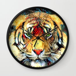 Fantazi (Tiger is Not Amused II) Wall Clock