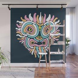 Demon Mask Wall Mural