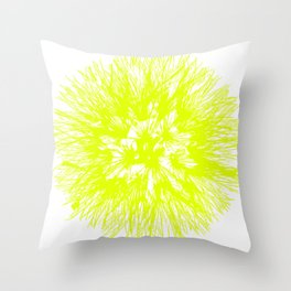 Make A Wish Dandelion Vector In Yellow Throw Pillow