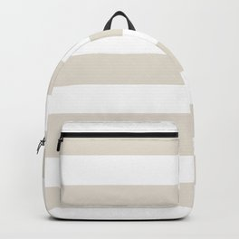 White coffee - solid color - white stripes pattern Backpack