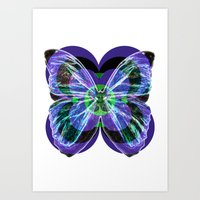 Insect, butterfly Art Print