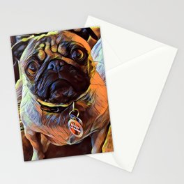 The PUG from our POP YOUR POOCH line Stationery Cards