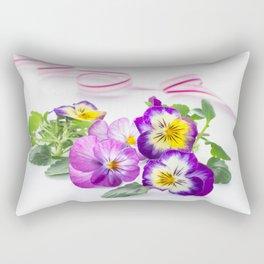 pansy 03 Rectangular Pillow