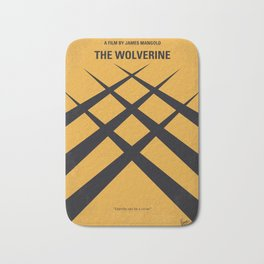 No222 My Wolverin minimal movie poster Bath Mat