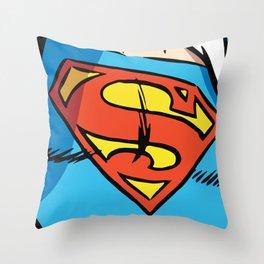 Classic Superman Throw Pillow