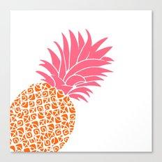 Bright Pineapple Canvas Print