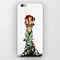 poison ivy iPhone & iPod Skins featuring Poison Ivy by Ayse Deniz