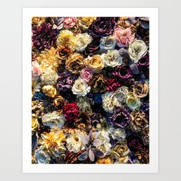 Flower Wall // Full Color Floral Accent Background Jaw Dropping Decoration Art Print