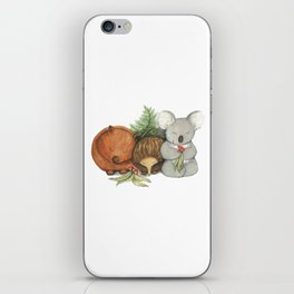 Native Australian Animal Babies – With Koala, Wombat And Echidna iPhone Skin