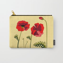 Adorable Red Poppies Unfold Carry-All Pouch