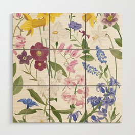 Spring Flowers Wood Wall Art