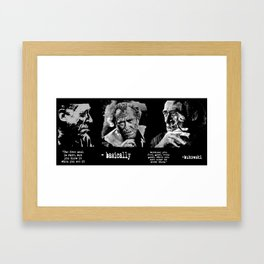 BUKOWSKI collage - The FREE SOUL quote Framed Art Print