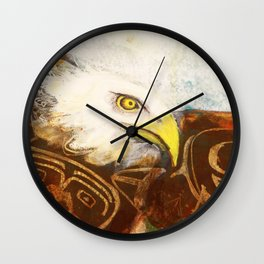 The eagle's spirit Wall Clock