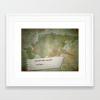 not all who wander Framed Art Prints featuring Not all who wander by Lily Mondale