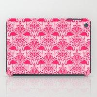 damask iPad Cases featuring Flamingo Damask by Jacqueline Maldonado