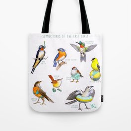 Summer Birds of the East Coast Tote Bag