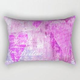 French pink romance heart pattern Rectangular Pillow
