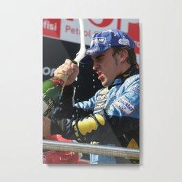 Fernando Alonso F1 driver Istanbul 2009 - Formula 1 Metal Print