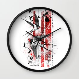 wings of a swallow Wall Clock