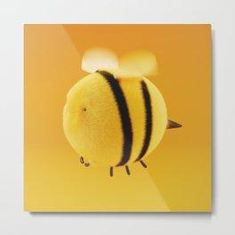 Fluffy Bee #2 Metal Print