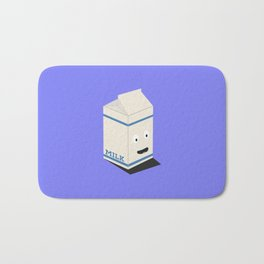 Cute kawaii milk carton Bath Mat