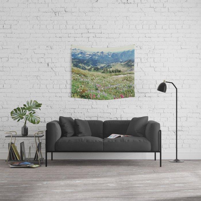 Wildflower Meadow Wall Tapestry