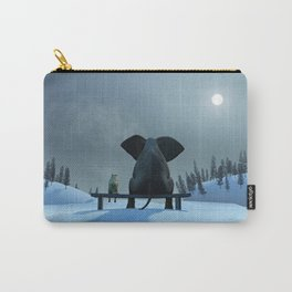 Dog and Elephant Friends Carry-All Pouch