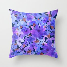 Lavender Blues Throw Pillow