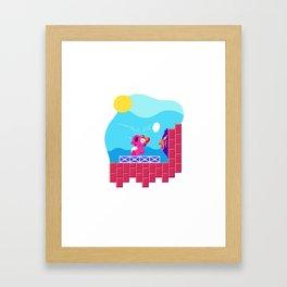 Teeny Tiny Worlds - Super Mario Bros. 2: Birdo Framed Art Print