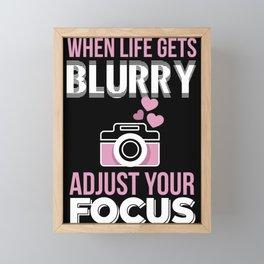 Photographer lens camera photography saying Framed Mini Art Print