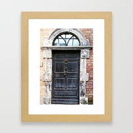 Irish black door Framed Art Print