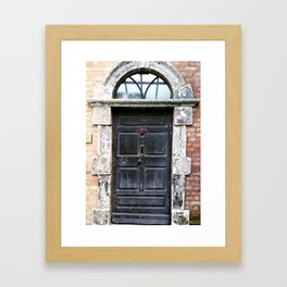 Irish black door Framed Art Print