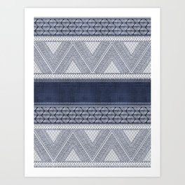 Dutch Wax Tribal Print Art Print