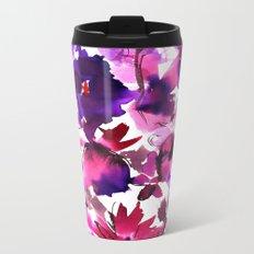 Sara Floral Pink Metal Travel Mug