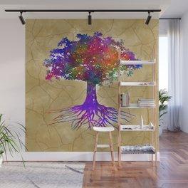 Tree Of Life Batik Print Wall Mural