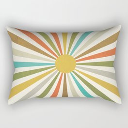 Sun Retro Art IV Rectangular Pillow
