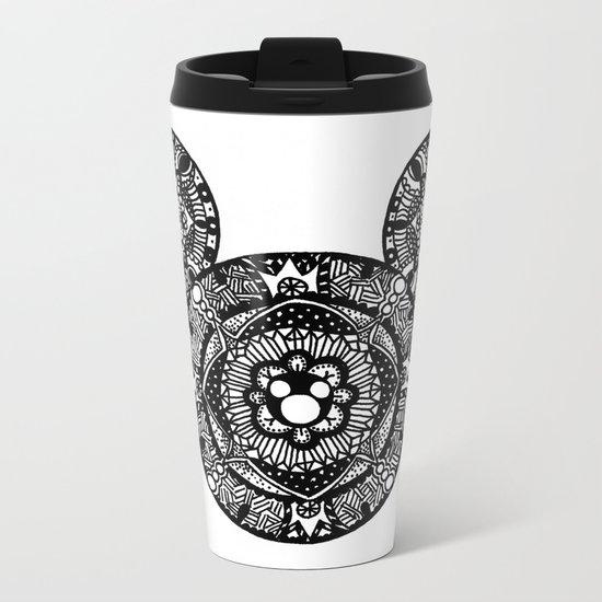 Mickey Mouse Mandala Metal Travel Mug