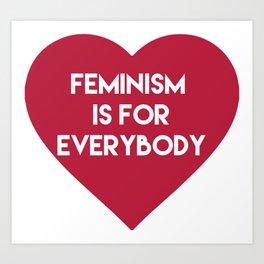 Feminism is for Everybody Art Print