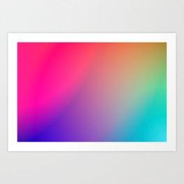 Rainbow Gradient Art Print