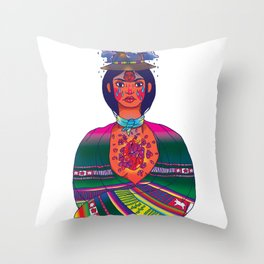 La Cholita: Para Siempre by Soledad Throw Pillow