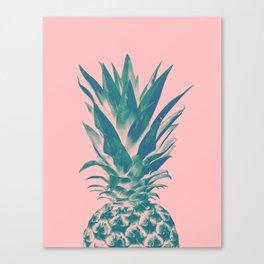 Blush Pineapple Dream #3 #tropical #fruit #decor #art #society6 Canvas Print