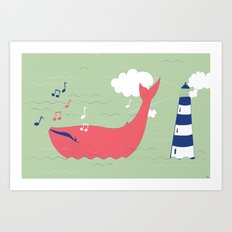 The Singing Whale Art Print