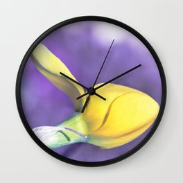 Narcissus bud Wall Clock