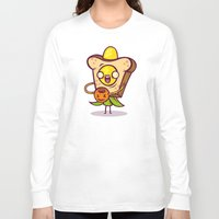 bread Long Sleeve T-shirts featuring Corny Bread by Artistic Dyslexia