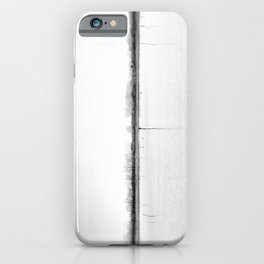 Minimal winter lake scene iPhone Case