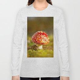Red Amanita Mushroom - #decor #society6 #buyart Long Sleeve T-shirt
