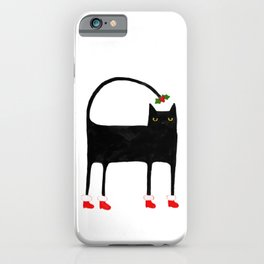 Meowy Funky Catmas Cat iPhone Case