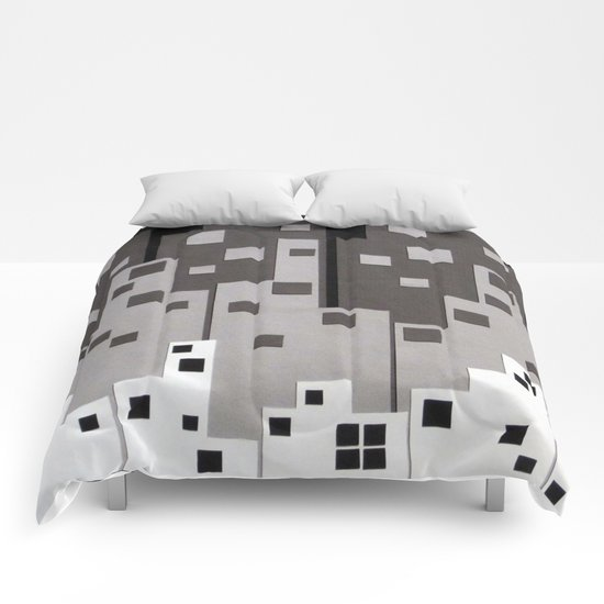 City at Night Comforters