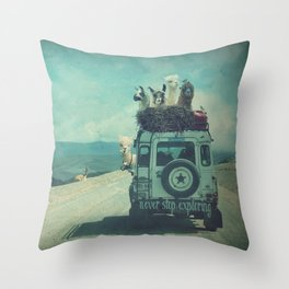 NEVER STOP EXPLORING II SOUTH AMERICA Throw Pillow